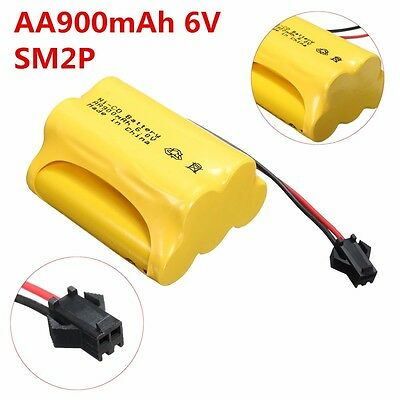 Ni-Cd AA 900mAh 6V SM2P Plug Rechargeable Battery For Remote Control Car Toy New