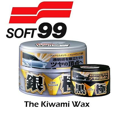 SOFT99 Kiwami Extreme Gloss SILVER & DARK Carnauba Paste  Fusso King of - NEW