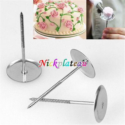 Cupcake Ice Cream Cake Decorating Flower Nail Needle Baking Pastry Tools DIY