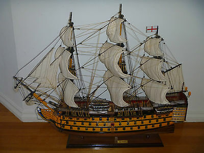 HMS Victory massive 85cm hand made wooden model Navy Battle tall Ship Brand new