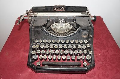 Machine A Ecrire Ancienne Rooy 1900 Unis France