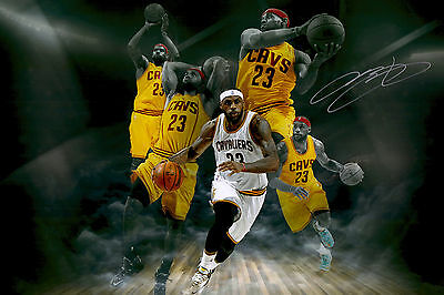 LeBron James Cleveland Cavs Signed Autographed A3 Glossy Poster Print