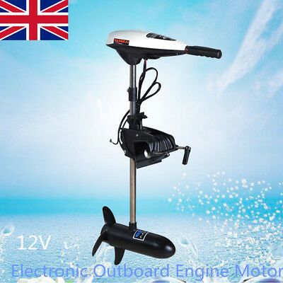 Electronic Outboard Engine Motor 12V Dinghy Kayak Inflatable Fishing Boat NEW