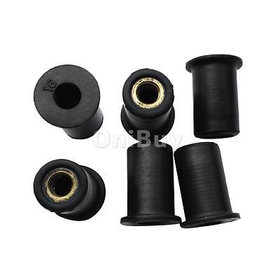6 Pack M6 Metric Rubber Well Nuts Blind Fastener Wellnuts Kayak Accessories