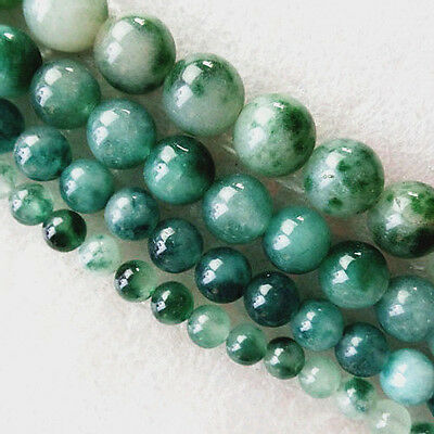 Moss Agate Round Ball 6mm,8mm,10mm,12mm Loose Bead 15.5 inch GL047