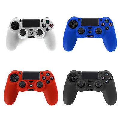 For Sony Playstation PS4 Dual Shock Controller Silicone Gel Case Cover Skin New