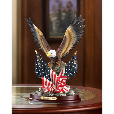 Patriotic American Bald Eagle In Flight Statue Figurine Decor~32419