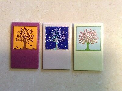 MAGNETIC BOOKMARKS - Handmade - Autumn Winter & Spring Trees.