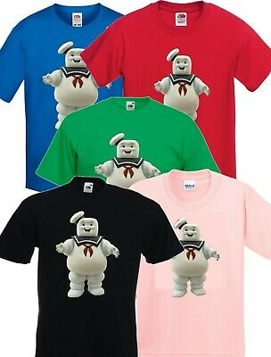 GHOSTBUSTERS stay puft marshmallow man, T Shirt Childrens Kids Size