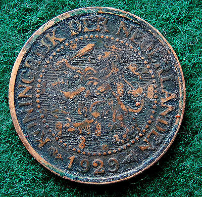 1929 Netherlands 2 1/2 Cents Coin  SB3842