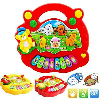Musical Educational Animal Farm Piano Developmental Music Toy for Baby Kids KY