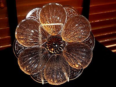 Antique Eapg Pressed Glass Shell And Tassel Oyster Plate.  1880's Rare