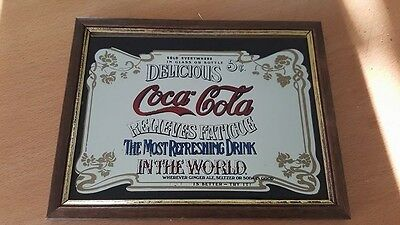 Reproduction Coca Cola Werbe-Spiegel / KEIN ORIGINAL