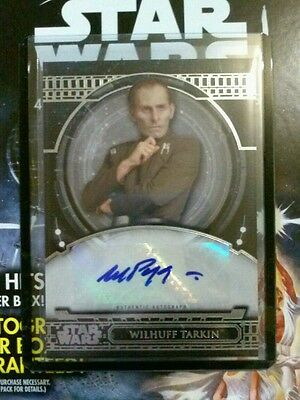 2017 Topps Star Wars Wayne Pygram As Wilhuff Tarkin Autograph Aa-Wp