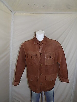 Marlboro Classics Giubbino Pelle Leather Jacket Giaccone Xl Casual P3197