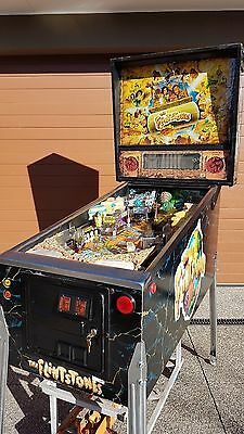 Flintstones Pinball Machine by Bally Williams with LEDS.