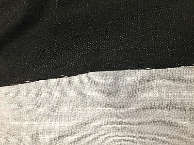 Interlining - Woven Medium Weight With Glue Iron on/Fusible Black/White