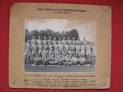 WW2 Named Group Photograph - 1943 Instructors Course.