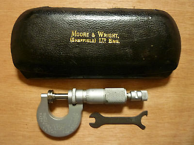 moore&wright paper micrometer with small spanner and case (933P)