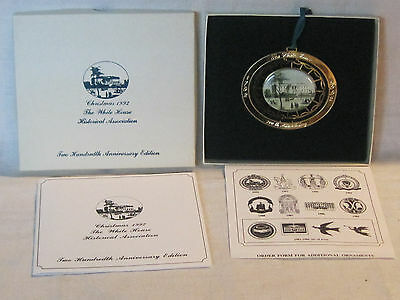 White House Historical Association Christmas ornament 1995, 200th Anniversary