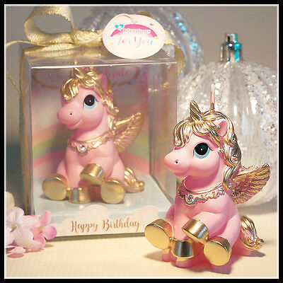 Cute Pink Unicorn Novelty Candle - Cake Topper - NEW