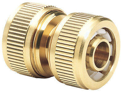 "Genuine DRAPER Expert Brass 1/2"" Hose Repair Connector 