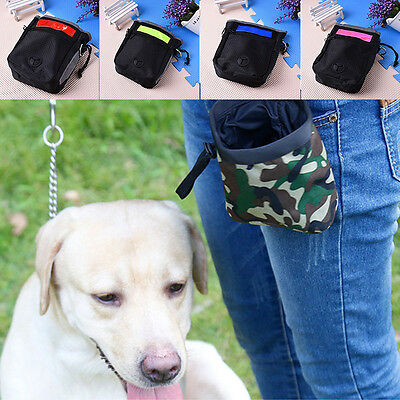 Pet Dog Puppy Obedience Agility Bait Training Treat Bag Food Snack Pouch Bags