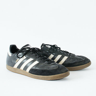 True Vintage 90's Adidas Samba Trainers Laced Sneakers Leather Men's UK 11.5