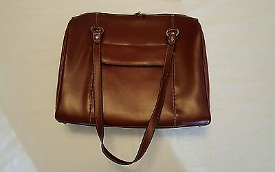 McKlein Oxblood Leather Laptop Tote Business Bag 16x13- Near Mint