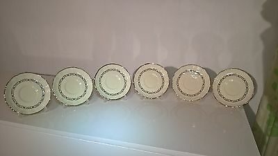 "6 X Vintage Grindley Creampetal Floral Side Salad Plates 6.5"" Lovely"