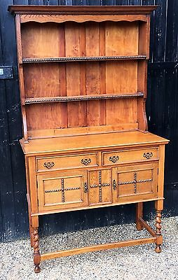 1920's Vintage Oak Display Dresser Arts & Crafts Style Detail