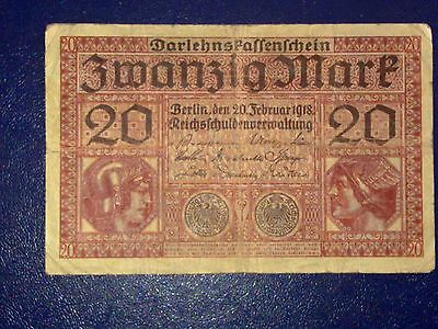 Germany - 20 Mark 1918 -   Fine