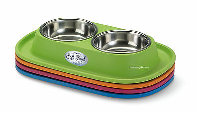 Pet Food Bowl Cat Twin Feeding Water Bowls Cat Food Bowl Double Pet Food Bowl