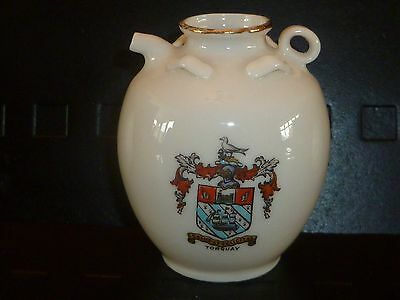 WH GOSS Crested China Model of Ancient Wymondham Jar. Crest of Torquay
