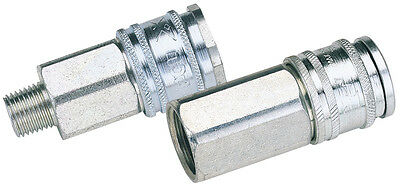 "Genuine DRAPER Euro Coupling Male Thread 1/4"" BSP Parallel (Sold Loose) 