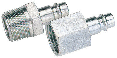 "Genuine DRAPER 1/8"" BSP Male Nut PCL Euro Coupling Adaptor (Sold Loose) 