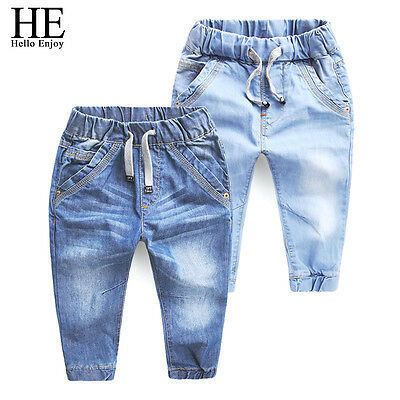 HE Hello Enjoy Boys Jeans Pants Children's Clothing Blue Trousers Baby Pants New