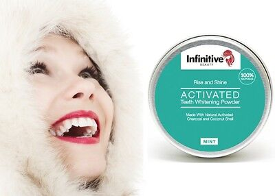 White First - Infinitive Poudre 100% naturelle Blanchiment dentaire charbon