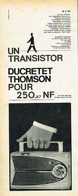 H- Publicité Advertising 1960 Transistor Ducretet Thomson RT 033
