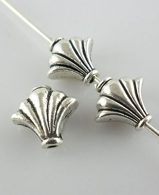 20pcs Tibetan Silver Charms Shell/Conch Spacer Beads Jewelry Findings