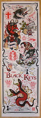 2012 The Black Keys - Melbourne II Silkscreen Concert Poster S/N by Rhys Cooper