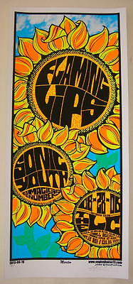 2006 Flaming Lips w/ Sonic Youth - Silkscreen Concert Poster Martin  NOT SIGNED!