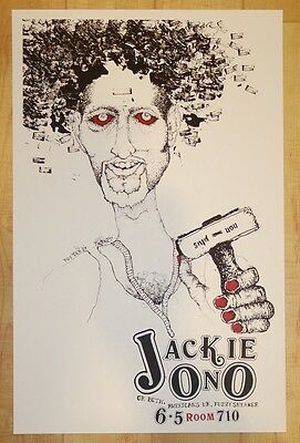 2003 Jackie Ono - Austin Silkscreen Concert Poster by Picture Puzzle Studio