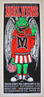 2004 The Melvins - Boston Silkscreen Concert Poster s/n by Jeff LaChance