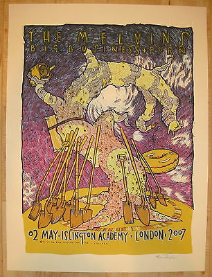 2007 The Melvins - London Silkscreen Concert Poster S/N by Jay Ryan