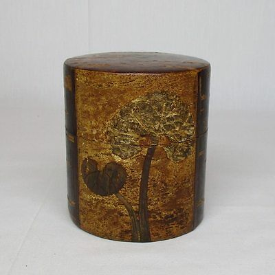 A075: Japanese cherry bark ware powdered tea container NATSUME