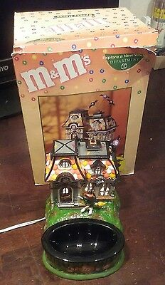 "M&M'S - M&M ""HAUNTED HOUSE TOURS"" LIGHTED HOUSE & CANDY DISH-  DEPT. 56 boxed"