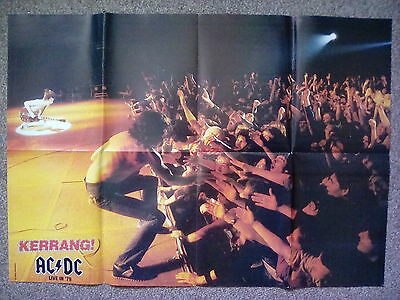 "AC/DC Photo History Live in 79 Bon Scott Fold out Poster 23"" x16"" from Kerrang"