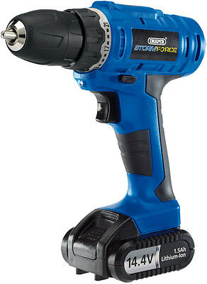 DRAPER Storm Force Cordless Rotary Drill with Li-ion Battery (14.4V)   14598