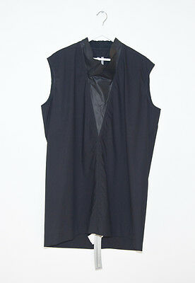 Rick owens cowl neck tunic shirt with leather insert size m